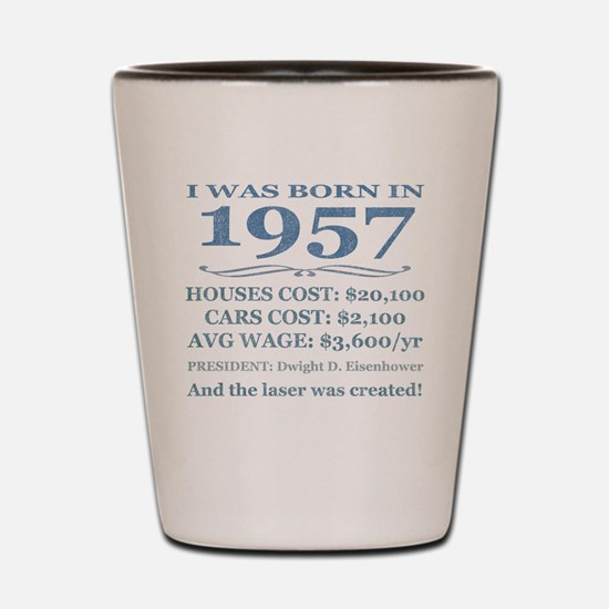 Birthday Facts-1957 Shot Glass