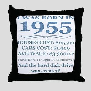 Birthday Facts-1955 Throw Pillow