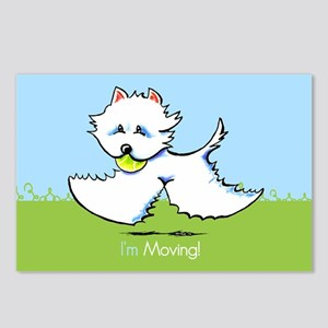 Im Moving Westie New Address Postcards (Package of