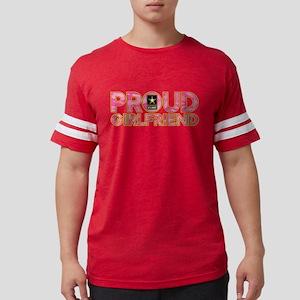 Proud Army Girlfriend Mens Football Shirt