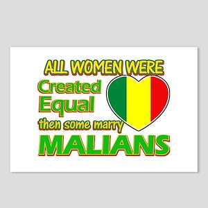 Malian husband design Postcards (Package of 8)