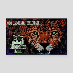 Leopard A.L.F. Rectangle Car Magnet