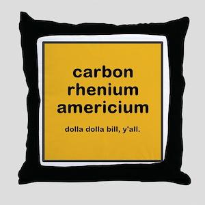 cream chem throw pillow