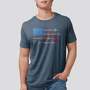 USAF Fly. Fight. Win Mens Tri-blend T-Shirt