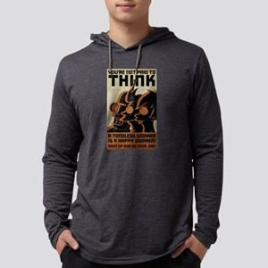 Futurama You're Not Paid to Thin Mens Hooded Shirt