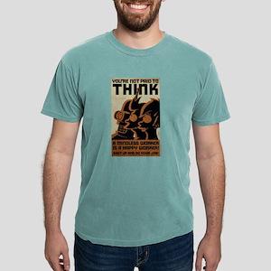 Futurama You're Not Paid Mens Comfort Colors Shirt