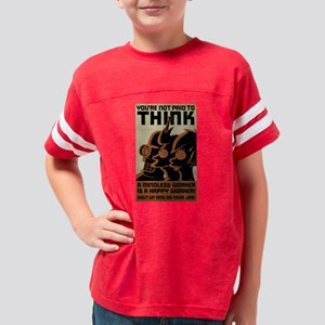 Futurama You're Not Paid to T Youth Football Shirt