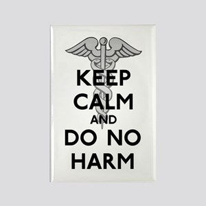 Keep Calm Do No Harm Rectangle Magnet