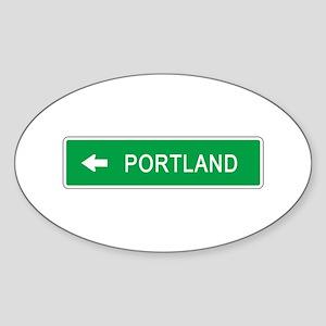 Roadmarker Portland (OR) Oval Sticker