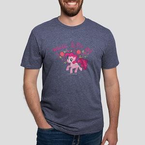 MLP Pinkie Pie Weeee Dark Mens Tri-blend T-Shirt