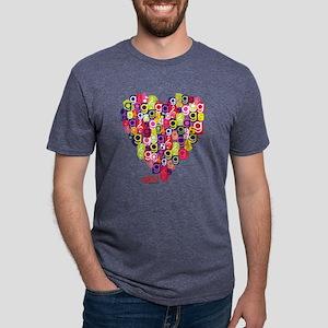 Glee Heart Light Mens Tri-blend T-Shirt