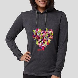 Glee Heart Light Womens Hooded Shirt