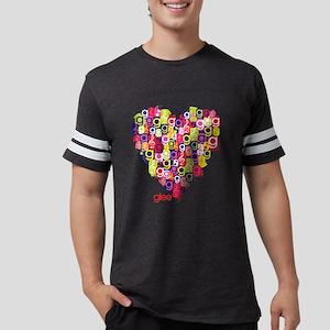 Glee Heart Light Mens Football Shirt