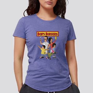 Bob's Burger Hero Family Womens Tri-blend T-Shirt
