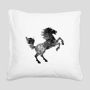 Horse Silhouette Square Canvas Pillow