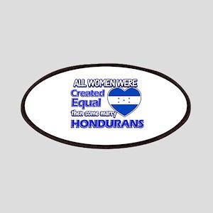 Hondurans husband designs Patches