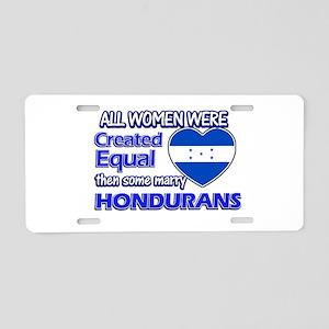 Hondurans husband designs Aluminum License Plate