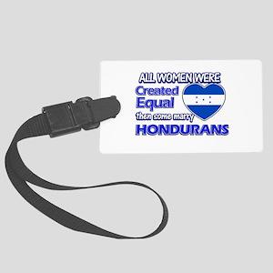 Hondurans husband designs Large Luggage Tag