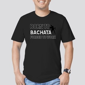 born to bachata designs Men's Fitted T-Shirt (dark