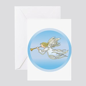 Flying Angel Greeting Cards