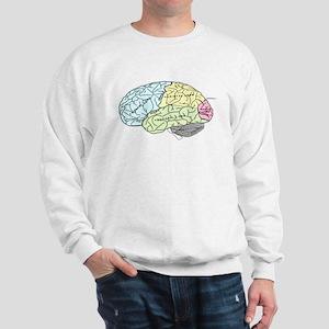 dr brain lrg Sweatshirt