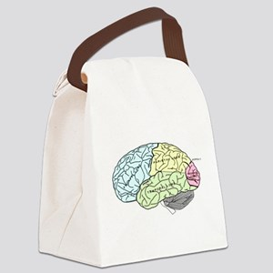 dr brain lrg Canvas Lunch Bag