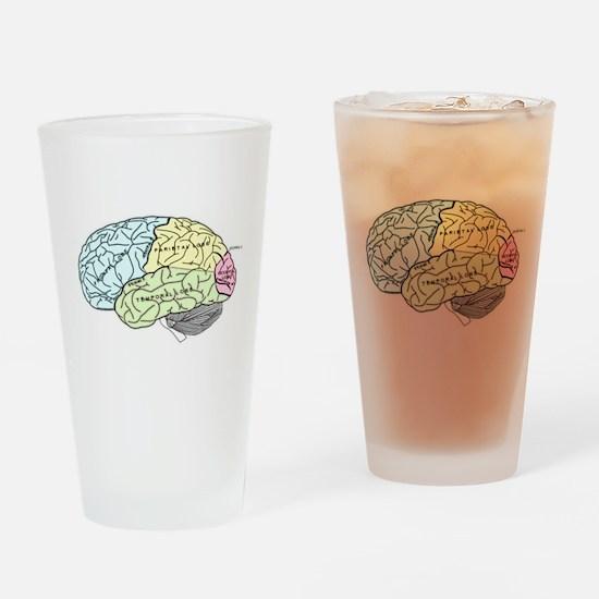 dr brain lrg Drinking Glass