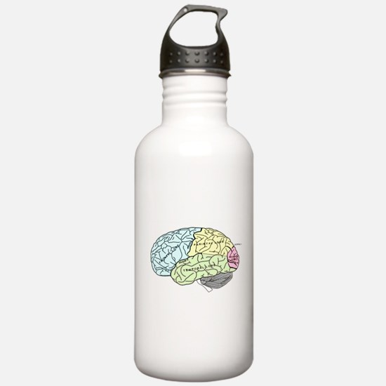 dr brain lrg Water Bottle