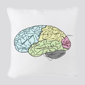 dr brain lrg Woven Throw Pillow