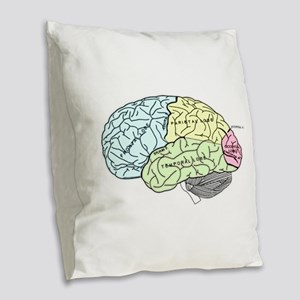 dr brain lrg Burlap Throw Pillow