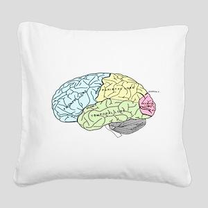 dr brain lrg Square Canvas Pillow