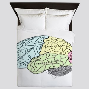 dr brain lrg Queen Duvet