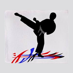 Martial Arts Male Throw Blanket