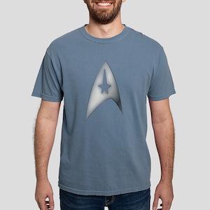 Gray Metallic Star Trek  Mens Comfort Colors Shirt