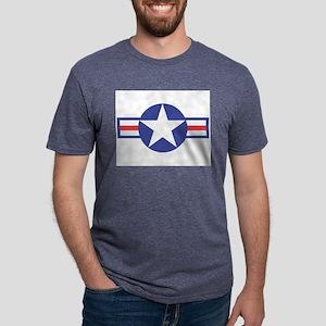 USAircraftStar10x8 Mens Tri-blend T-Shirt