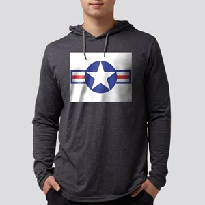 USAircraftStar10x8 Mens Hooded Shirt