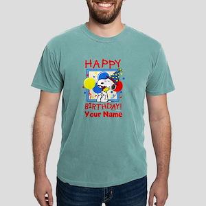 Peanuts Happy Birthday R Mens Comfort Colors Shirt