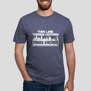 Thin Line Dark Mens Tri-blend T-Shirt