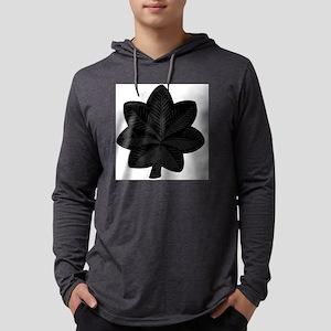 USAF-LtCol-Subdued-Black Mens Hooded Shirt