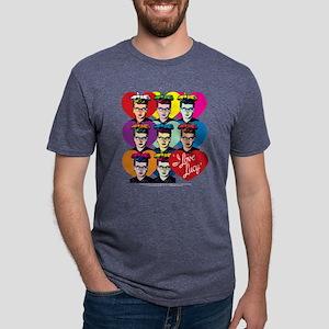 I Love Lucy: Headshot Heart Mens Tri-blend T-Shirt