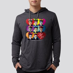 I Love Lucy: Headshot Hearts Dar Mens Hooded Shirt
