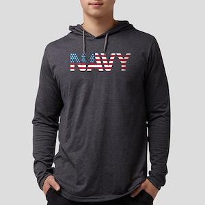 Navy Flag Mens Hooded Shirt