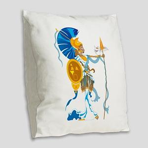 Athena Burlap Throw Pillow