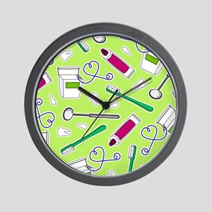 Cute Dentist / Dental Hygienist Print Green and Pu
