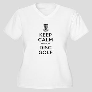 KEEP CALM DISC GOLF BLACK Plus Size T-Shirt