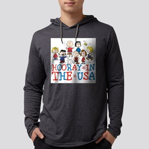 Hooray in the USA Mens Hooded Shirt