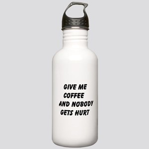 Give me Coffee and nobody gets hurt Water Bottle