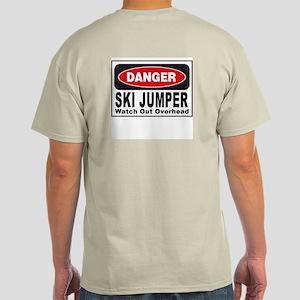 Ski Jumper Danger Sign Ash Grey T-Shirt