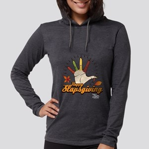 HIMYM Happy Slapsgiving Dark Womens Hooded Shirt