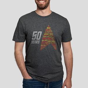 Star Trek 50 Years Captain  Mens Tri-blend T-Shirt